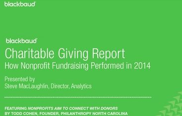 In 2014, overall charitable giving in the United States increased 2.1% on a year-over-year basis. - See more at: http://npengage.com/nonprofit-fundraising/the-2014-charitable-giving-report/?sthash.QlR82XT5.mjjo#sthash.QlR82XT5.oo9GzP6q.dpuf