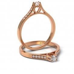 Inel de logodna cu diamante ECHINOX din aur roz