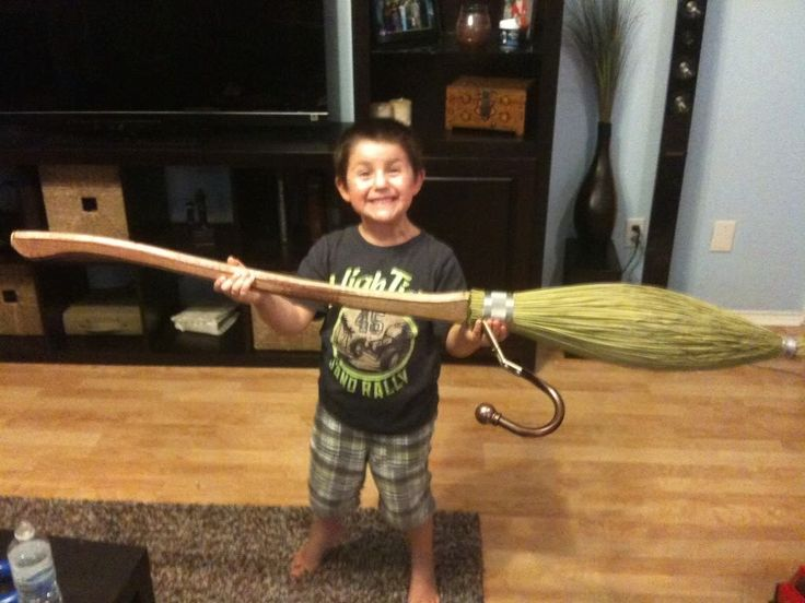 how to make a harry potter broomstick