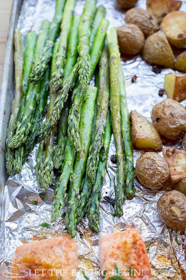 Potato Salmon and Asparagus One Pan Dinner {Clean, Easy & Delicious ...