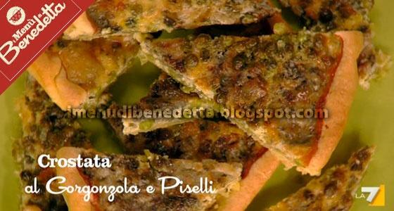Crostata Gorgonzola e Piselli di Benedetta Parodi