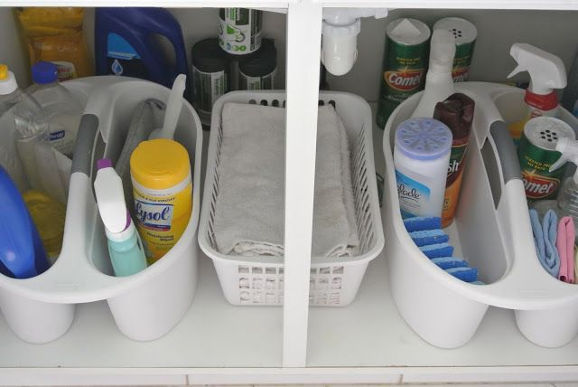 Kitchen Organization – Under the Sink
