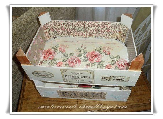 cajas de fresa decoradas - Buscar con Google:
