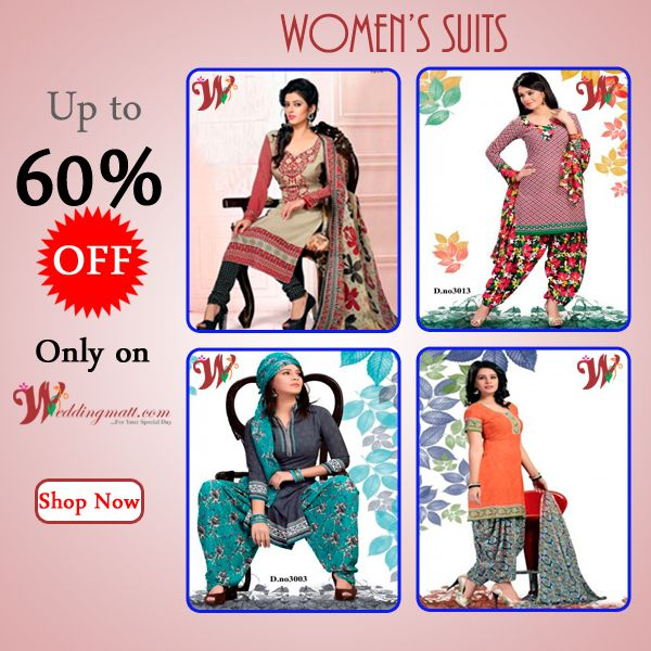 Latest Suits Collection with exclusive 60% discount