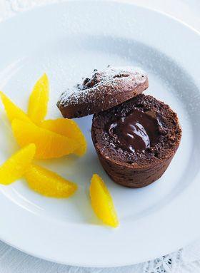 Chokoladekage med flydende kerne