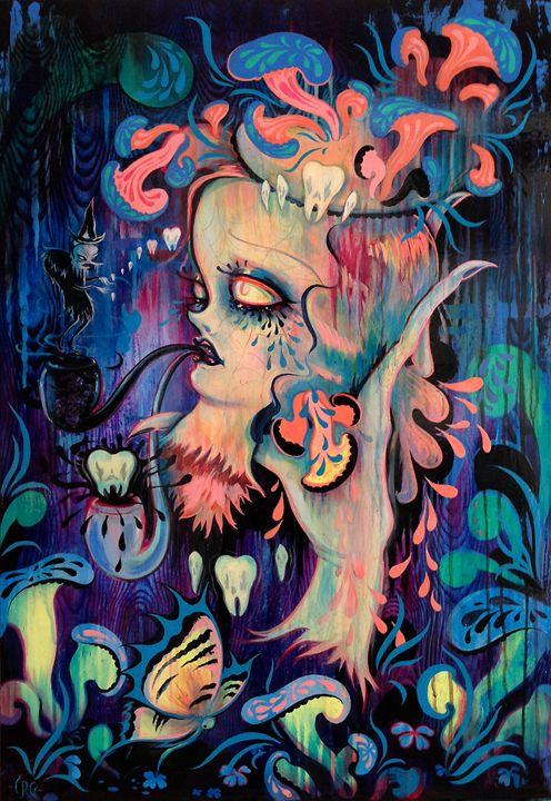 """Camille Rose Garcia's """"La Danse Macabre."""""""