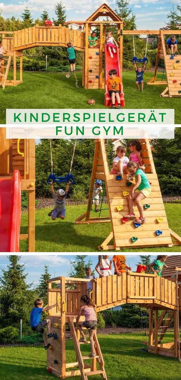 Maxi Set Kinderspielgerat Fun Gym Naturspielplatz Schaukel Rutsche Spielplatz