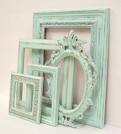 Painted guided frames with paint wiped from them. No wax. Idea from boathouse originals