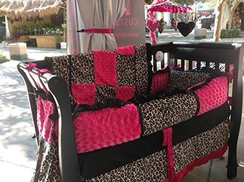 Pink Leopard Nursery Bedding Set | Pink and Animal Print Crib Bedding