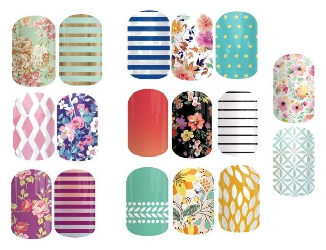 For the love of floral/ Jamberry nails/ floral combinations