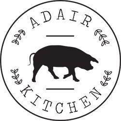 Adair Kitchen - Houston, Texas - Logo - circle - pig - animal - cutout - circular - silhouette - profile - design - example - black and white