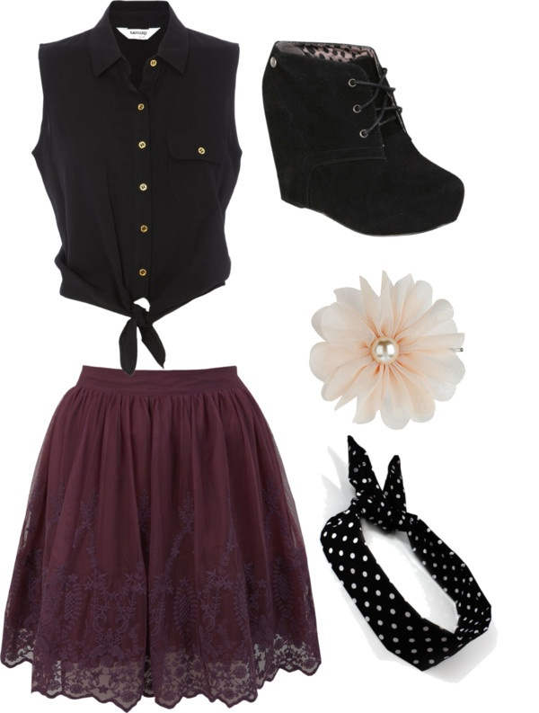 Waitress outfit)xx | Polyvore | Pinterest | Waitress outfit Polyvore and Clothes