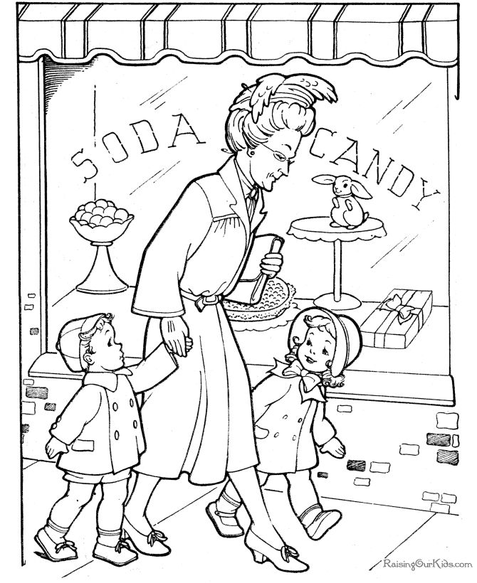 Free Grandparents Day coloring page
