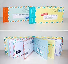 Brieven aan mijn baby €12,50 In het boekje Brieven voor mijn baby zitten 12 uitvouwbare brieven waarin ouders hun herinneringen aan hun baby kunnen vast leggen. Na járen mogen de kinderen de zegels verbreken. De brieven vormen samen een prachtige persoonlijke tijdcapsule.