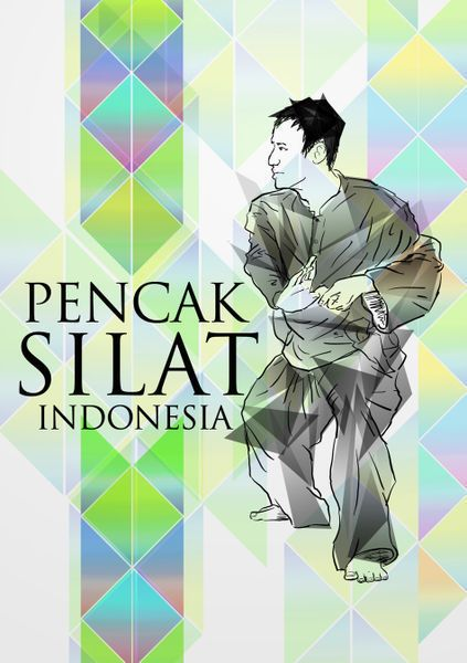 Pencak Silat Indonesia poster by me :)