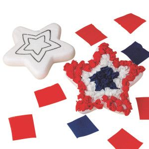 Star Paper Art Craft Kit for Armed Forces Day or Memorial Day!