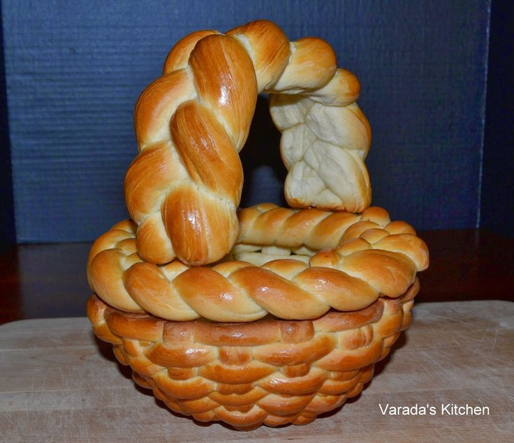 Basket shaped bread