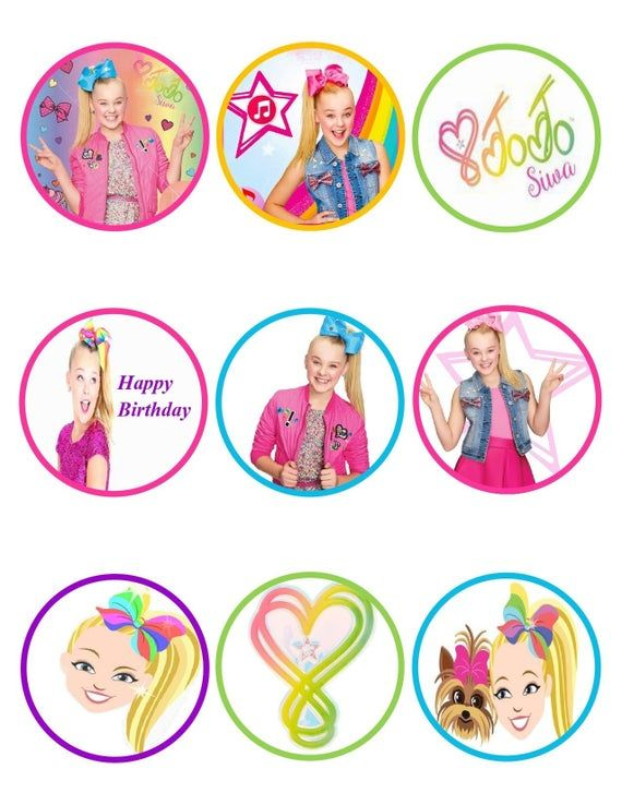 12 JoJo Siwa Girl Party Favor Label Tag Not Sticker Birthday Bag Treat