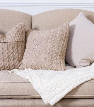 Pure Wool Aran Cushion Cover