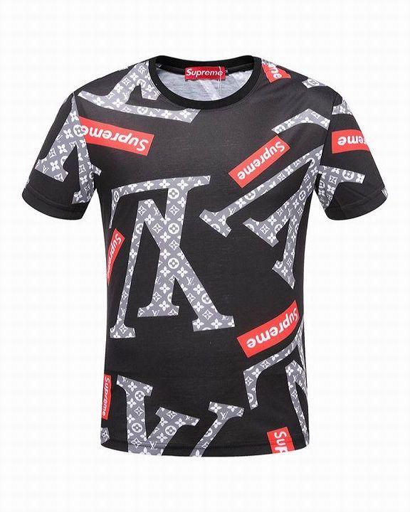 c5e604358a4d Louis Vuitton Short Sleeve Round Collar T Shirts Men