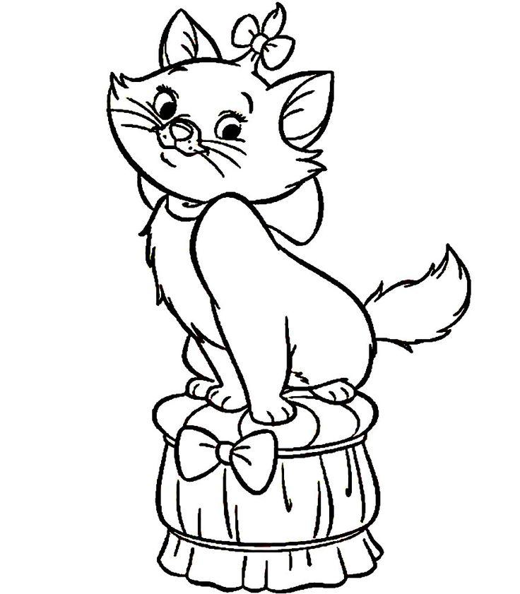 Dibujo De Gatos Para Imprimir Y Colorear 4 De 12