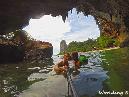 Románticos en Phranang beach, Krabi