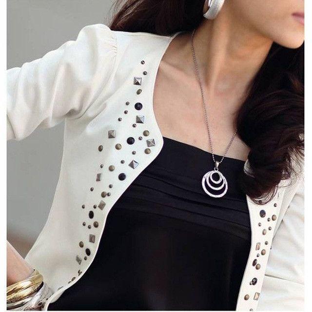 New Spring Fashion/Casual Suit Jacket Women Long Sleeve Thin Short Coat #10
