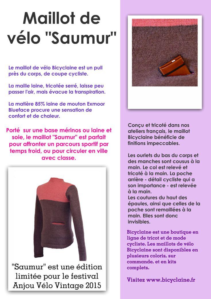 fiche info maillot de vélo en laine Saumur 2015