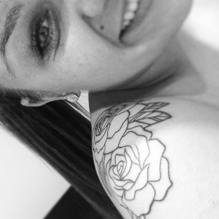 Tattoo Quotes With Roses: My Rose Shoulder Tattoo! Love It.