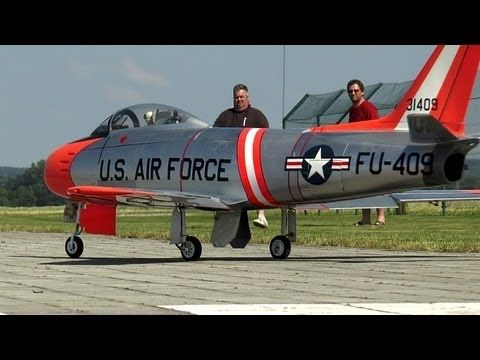 Beautiful Giant Rc Sabre F-86