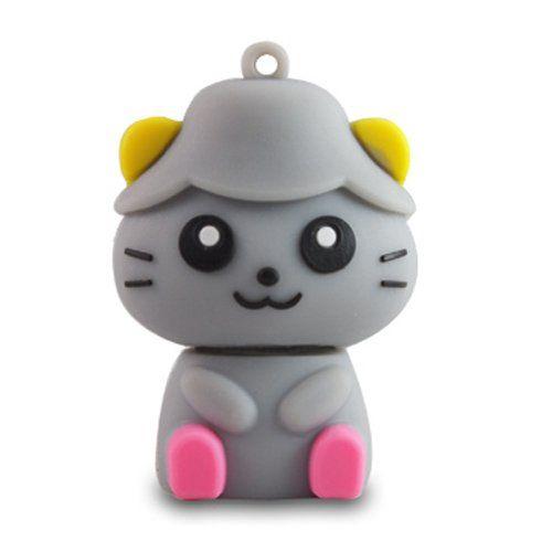 64 818-TEch No9600040032 Hi-Speed 2.0 clé USB 32Go drôle chat 3D gris: Amazon.fr: Informatique