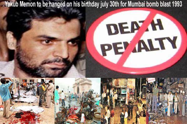 Yakub Memon to be hanged on his birthday july 30th for Mumbai bomb blast 1993
