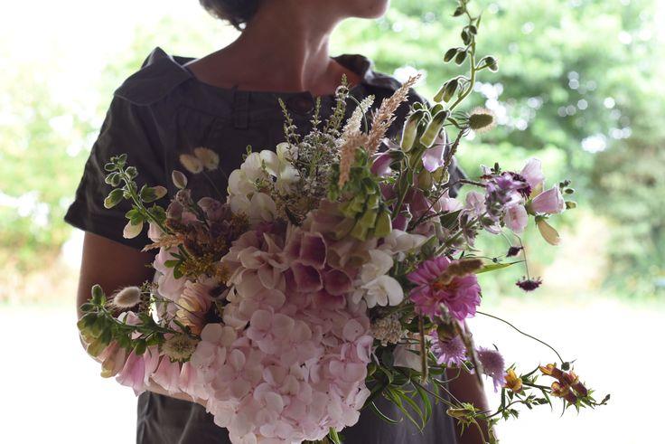 December Wedding, Bouquet, Bridal, Hollyhock, Foxglove, Dahlias, Grasses, Bunny Tails, Wild bouquet, peach, blush