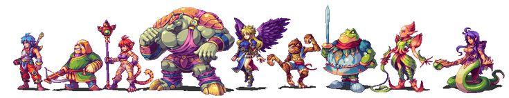 JRPG Characters Look So Good As 2D Sprites