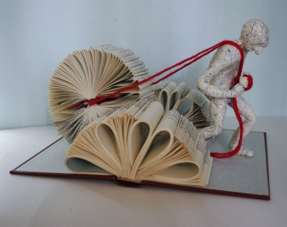 Book sculptures by Daniel Lai | books, paper, scissors
