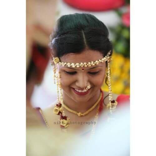 Wedding Hairstyle Maharashtrian: 107 Best Indian Bridal Hairstyles Images On Pinterest