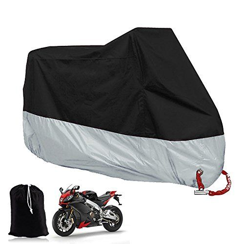 Big Ant Waterproof Motorcycle Cover-Breathable Sun Snow Motorcycle Cover Custom Fit Motorcycle Up to 108 Inches-Black & Sliver. For product info go to:  https://www.caraccessoriesonlinemarket.com/big-ant-waterproof-motorcycle-cover-breathable-sun-snow-motorcycle-cover-custom-fit-motorcycle-up-to-108-inches-black-sliver/