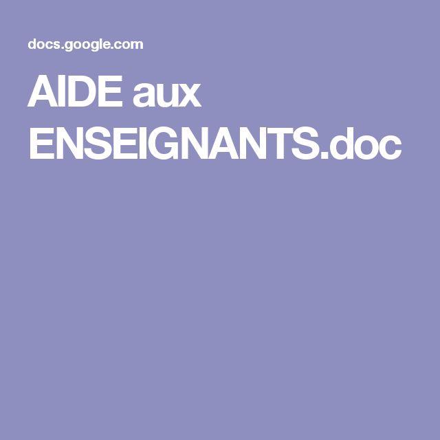 AIDE aux ENSEIGNANTS.doc
