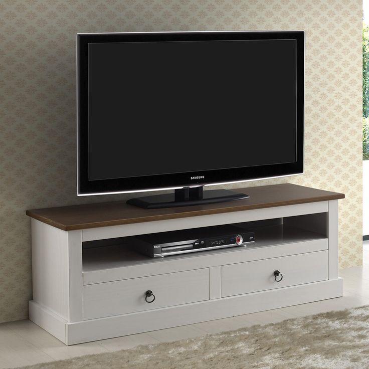 Rack para TVs até 46 Polegadas Provence Inter Link Branco Sépia