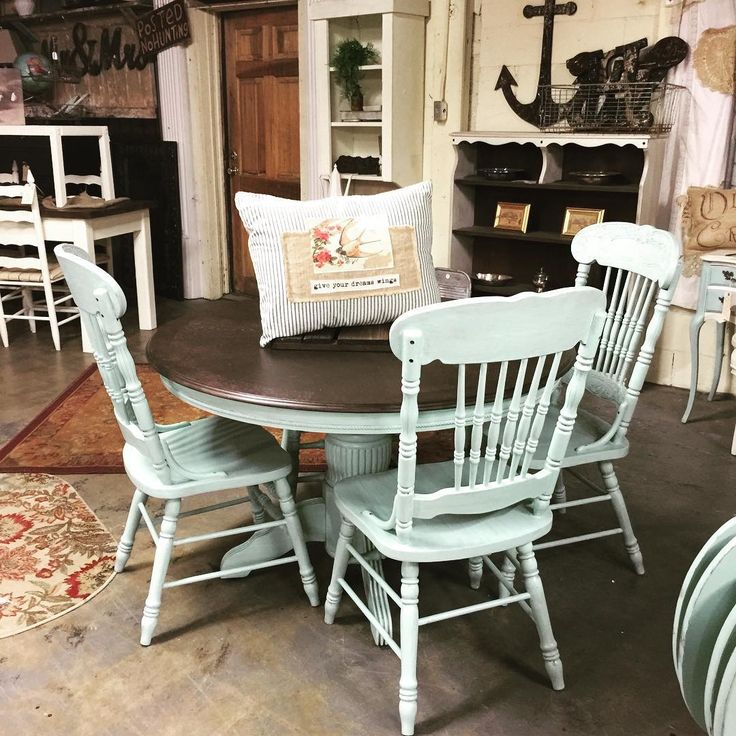 Rethunk Junk Furniture Paint In Robins Egg With Staying