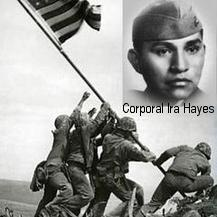 Ira Hayes (1923–1955) was a Pima Native American & a US Marine corporal who was 1 of 6 men immortalized in the iconic 1945 photo of the flag-raising on Iwo Jima during WW2. The event was captured by Joe Rosenthal of the AP & widely distributed, making the 6 men national heroes. Hayes was never comfortable with his new-found fame tho. After his Marine service, he descended into alcoholism and died in 1955 of alcohol poisoning. He was buried w honors at Arlington National Cemetery on 2/2/1955.