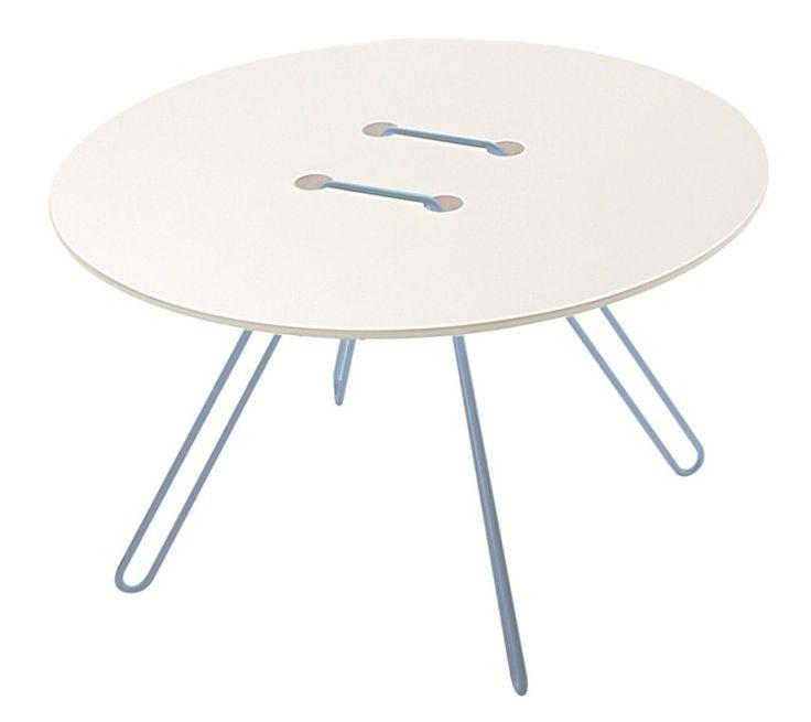 Twine salontafel wit / blauw - Casamania