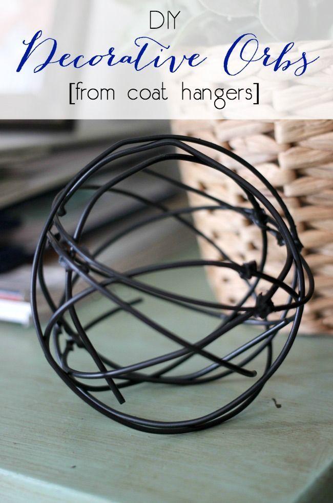 Diy Decorative Orbs From Coat Hangers Hanger Crafts