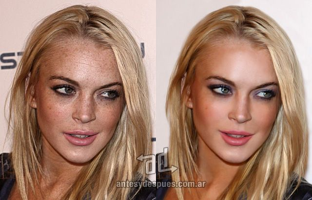 Lindsay Lohan Photoshop Makeover - the before and after of celebrity retouching and airbrushing ... for REAL makeovers for REAL women contact www.stylecreation.com.au !