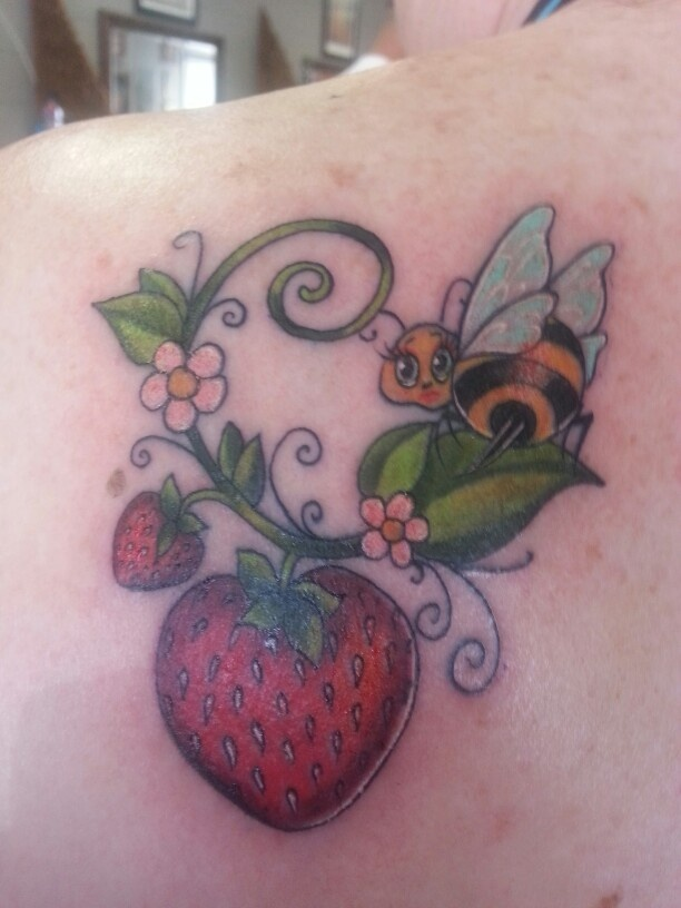 Tattoos Strawberry Tattoo Better Strawberries Artist Bee