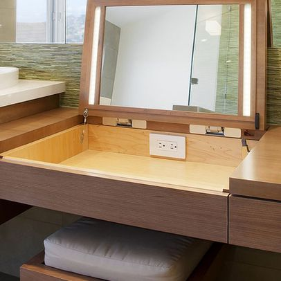 Outlet In Drawer For Blow Drier Design Ideas, Pictures, Remodel, and Decor