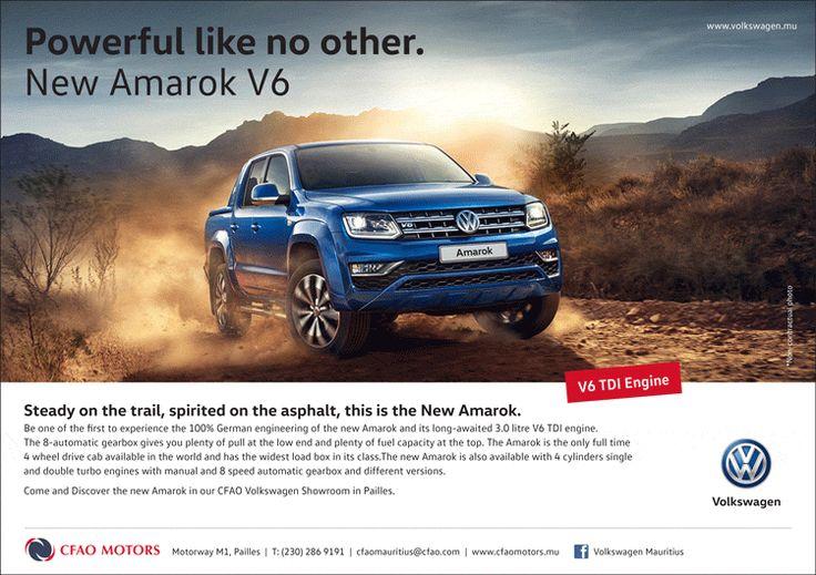 CFAO Motors - New Volkswagen Amarok V6 at CFAO Volkswagen showroom in Pailles ! Tel: 286 9191