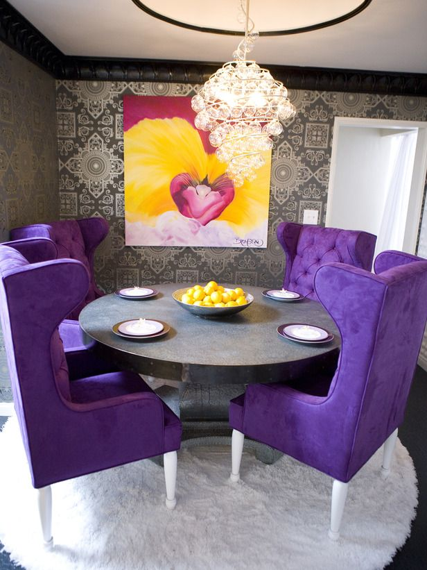 Best 20+ Purple dining chairs ideas on Pinterest | Purple dining ...