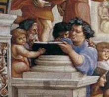 Musei Vaticani - Stanze di Raffaello. Stanza della Segnatura. The school of Athens (Detail)
