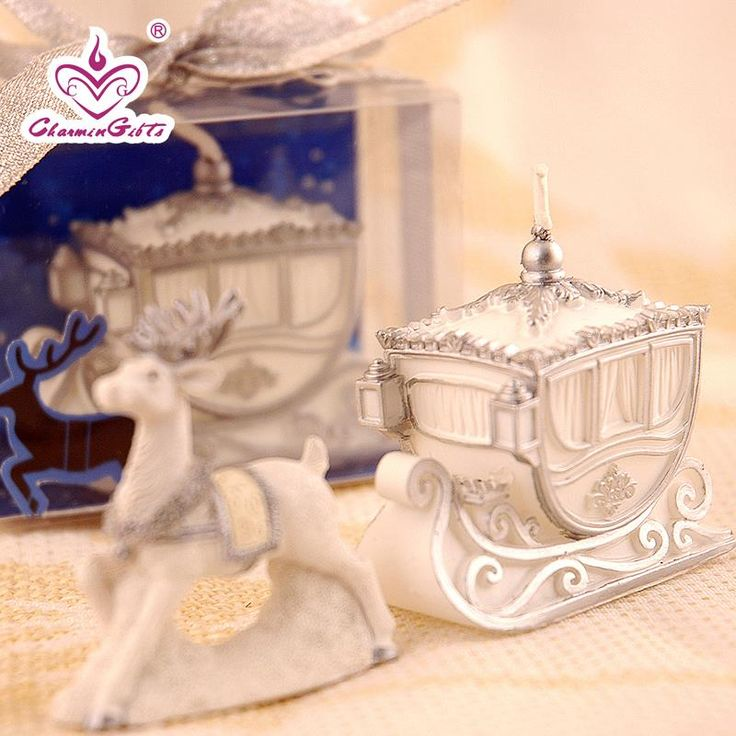 Find More Party Favors Information about Sleigh Car Candle in gift box wedding…